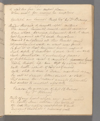 Page from the commonplace book of Charlotte A. Francis
